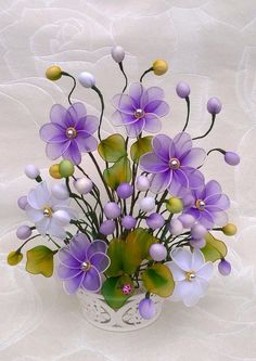 10 ideas flowers touch the image for see more and how to learning do ti. Nylon Flowers, Wire Flowers, Cloth Flowers, Plastic Flowers, Satin Flowers, Beaded Flowers, Flower Vases, Fabric Flowers, Paper Flowers