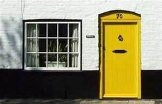 Another yellow  door