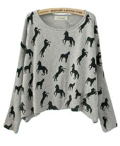 Animal Print Slouchy Sweater