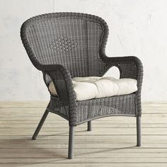 Pier 1 Imports Coco Cove Armchair ($200) ❤ liked on Polyvore featuring home, outdoors, patio furniture, outdoor chairs, grey, grey outdoor furniture, wrought iron outdoor furniture, grey patio furniture, gray outdoor furniture and pier 1 imports