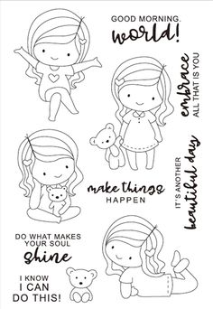 Look what I found on AliExpress Cute Coloring Pages, Coloring Books, Drawing For Kids, Art For Kids, Wreath Drawing, Cartoon Sketches, Christmas Cards To Make, Digital Stamps, Cute Illustration