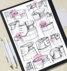 Design Sketches & Illustrations 2019 (Part on Behance Poster Sport, Poster Cars, Poster Retro, Interior Design Sketches, Industrial Design Sketch, Sketch Design, Doodle Drawings, Drawing Sketches, Sketching