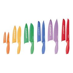 Add a pop of color to your kitchen Product Information Add a little color to your kitchen with this Cuisinart Advantage 12-Piece Knife Set. Each knife is made with high-quality stainless steel blades that you can trust to be dependable and durable