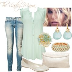 Sage, created by theluckymama on Polyvore
