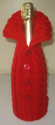 The Perfect Christmas Gift just add a bottle Perfect Christmas Gifts, Knits, Knitting, Bottle, Dresses, Fashion, Centerpieces, Vestidos, Moda