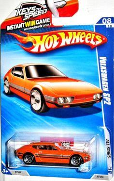 Volkswagen SP2 Hot Wheels 2010 All Stars #8/10 Orange VW Keys To Speed Card #HotWheels #Volkswagen