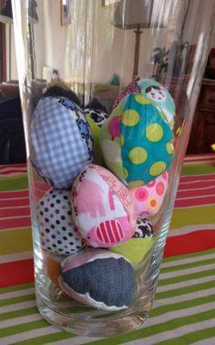 Ainsi font font font: Des œufs en tissu pour Pâques