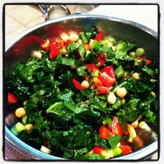 Chickpea and Kale salad recipe featured in Dr. Mark Hyman's cook book: The Blood Sugar Solution Cookbook. Cookbook Recipes, Real Food Recipes, Diet Recipes, Cooking Recipes, Healthy Recipes, Fast Metabolism Recipes, Fast Metabolism Diet, Clean Eating Recipes, Healthy Eating