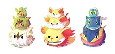 Pokemon + TsumTsums, Starters :D