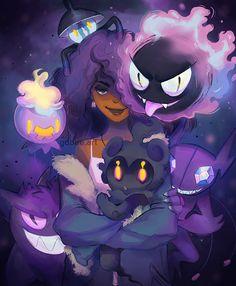 Pokemon is Magic Ghost Type Pokemon, Pokemon Memes, Pokemon Stuff, Gaming Wallpapers, Magic Art, Pretty Art, Pictures To Draw, Cute Drawings, Art Reference