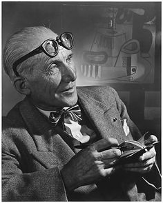 Le Corbusier by Yousuf Karsh.  Le Corbusier was an architect, painter, urban planner, writer, and one of the pioneers of what is now called modern architecture. Wikipedia