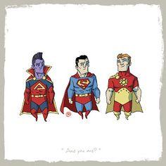 LITTLE FRIENDS - Superman & Gladiator... & Hyperion