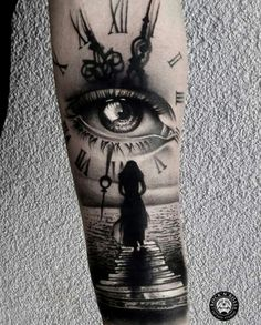 Our Website is the greatest collection of tattoos designs and artists. Find Inspirations for your next Clock Tattoo. Search for more Tattoos. Half Sleeve Tattoos For Guys, Best Sleeve Tattoos, Leg Tattoos, Body Art Tattoos, Skull Sleeve Tattoos, Girl Arm Tattoos, Tatoos, Tattoo Forearm, Tattoo Ink