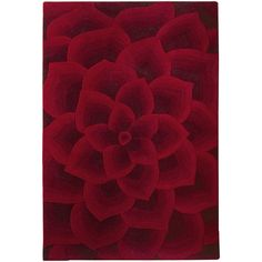Pier 1 Imports Rose Tufted Rug ($950) ❤ liked on Polyvore featuring home, rugs, red, pier 1 imports, red area rug, red rose rug, tufted rugs and red rugs