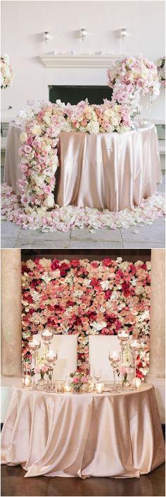 luxury sweetheart table for wedding luxury wedding #weddings #luxuryweddings #weddingreception #weddingideas #weddingdecor #rosesandrings ❤️