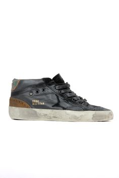GOLDEN GOOSE SNEAKERS BLACK LEATHER - VOLPI DONNA LUXURY SHOPPING WOMEN'S CLOTHING, SHOES AND ACCESSORIES