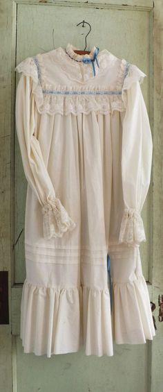 Stunning vintage nightgown... Matilda wears one just like it with a night cap to match! A timeless piece.
