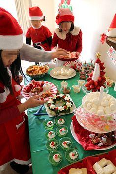 クリスマスパーティー風景 クリスマスパーティー演出 キッズパーティー演出