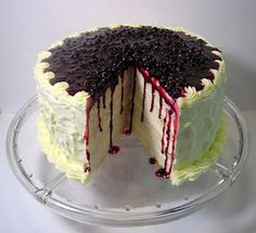 Blueberry & Orange Layer Cake with Cream Cheese Frosting