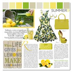 Summer Trend Limoncello by carlavogel on Polyvore featuring polyvore, fashion, style, Abercrombie & Fitch, Steve Madden, Vince Camuto, Marc by Marc Jacobs and Kenneth Cole