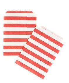 Red Stripe Treat Bag - Set of 40 #zulily #zulilyfinds