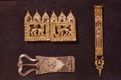 Silver belt ornaments Venetian work, late 14th-15th century  (British Museum)