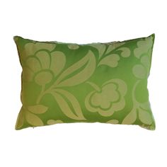 Pair of Green Damask Pillows