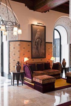 La Mamounia Hotel, Marrakech, Morroco, renovation by architect Jacques Garcia