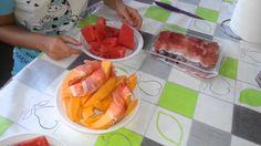Italian delicacy: melon wrapped in prosciuto