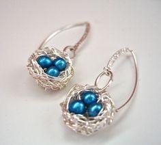 A Jewelry every day – Bird nest earrings