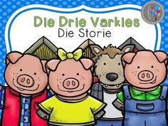 Afrikaans Drie varkies DIE STORIE Health Lesson Plans, Health Lessons, Shape Worksheets For Preschool, Scissor Skills, Kids Poems, Home Learning, Little Pigs, Afrikaans, Stories For Kids