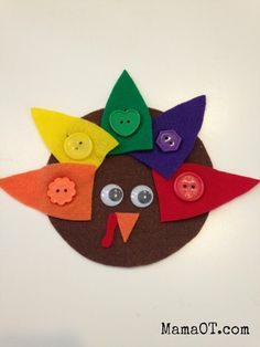 Turkey themed fine motor activities for kids ages 1 to 6, from a pediatric occupational therapist.