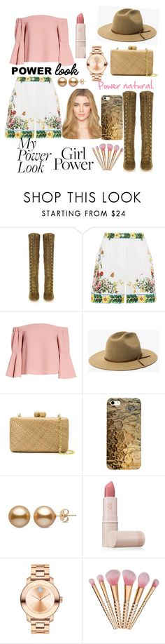 """nature power"" by aura-helena ❤ liked on Polyvore featuring Gianvito Rossi, Dolce&Gabbana, Topshop, Serpui, Lipstick Queen, Movado and powerlook"
