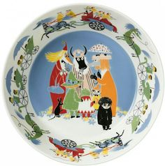 Moomin Friendship serving bowl 23 cm by Arabia - The Official Moomin Shop - 2 Moomin Shop, Moomin Mugs, Tove Love, Moomin Valley, Tove Jansson, Crazy Day, Sweet Stories, Ceramic Jars, Blond Amsterdam