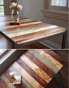 Redecorating by Repurposing I love the wood... either use yardsticks... or cut boards stain different colors and stencil on them what you want to say.... Like births, graduations... weddings... With all my Ancestry Information I could make a family table..