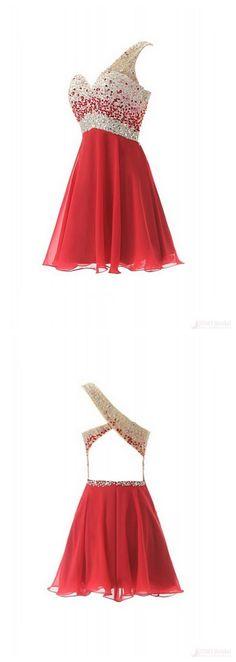 New Arrival Sequins Knee Length One Shoulder Short Homecoming Dresses Cocktail Dresses(ED0671)