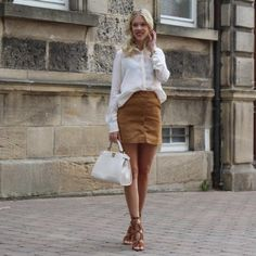 suede skirt by somehappyshoes