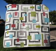 Happy Quilting: In Your Neighborhood - A New Quilt - very mid-century modern