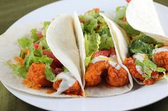 Buffalo Chicken Tacos Recipe...Perfect Football Food (or something to feed the teenager!)