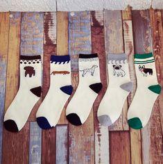 Men Women Husky Pugs Faithful dog Embroidery Socks