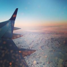 Il y a longtemps que je taime jamais je ne toublierai...#islande #Iceland #sky #flight #beautiful #love #air #icelandair #instamood - @Yingzi Shi- #webstagram