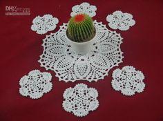 Christmas Napkin Folding Wholesale 100% Cotton Hand Made Crochet Doily Table Cloth Set, Retro Chic Designs Cup Mat Crochet Applique 38cm 10cm Tmt003 Printed Napkins From Crochet_doily, $9.47  Dhgate.Com