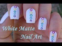 Matte White Nails With Dotting Tool Nail Design By Colors Of Rainbow
