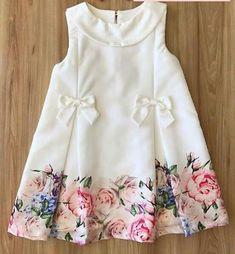 63 New Ideas Baby Girl Dresses Pattern Fancy Baby Girl Frocks, Frocks For Girls, Little Girl Dresses, Girls Dresses, Kids Dress Wear, Kids Gown, Children Dress, Kids Wear, Girls Frock Design