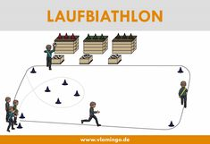 The running biathlon is a running game and a relay game at the same time, which are played in physic Secondary School, Primary School, Elementary Schools, Sport Snacks, Trailers Camping, Relay Games, Sports Games For Kids, Social Trends, Games Today