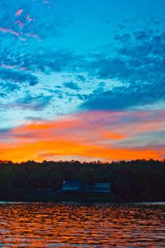 Sunset over the Elks Lodge on Lake Martin