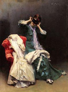 Preparándose para el baile de disfraces     Raimundo de Madrazo y Garreta