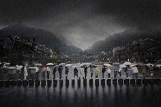 Дождь в древнем городе. Место съёмки: Фэнхуан, Хунань, Китай. Номинация: Travel, Open Competition, 1 место. (Chen Li/2014 Sony World Photography Awards)