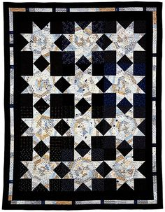 Blue White Quilt by Laurie