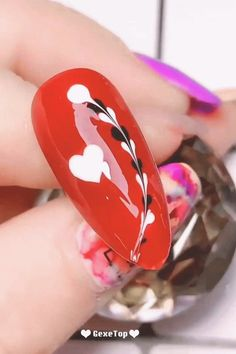This nail design will melt your heart brp classfirstletterour website has been carefully create for you scroll down for further different easy efficient subjectpif you dont like everything easy part of the icon we offer you when you read this figure is exactly the features you are looking for you can see in the image easy red nail art this nail design will melt your heart we say that we have presented you with the ultimate charmingly photograph that can be p... Nail Art Hacks, Nail Art Diy, Easy Nail Art, Cool Nail Art, How To Nail Art, Simple Nail Art Videos, Winter Nail Art, Winter Nails, Summer Nails